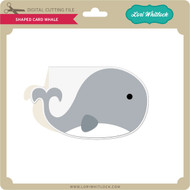 Shaped Card Whale