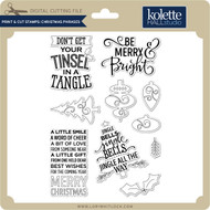 Print & Cut Stamps Christmas Phrases