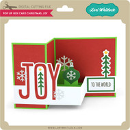 Pop Up Box Card Christmas Joy