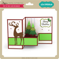 Pop Up Box Card Reindeer