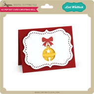 A2 Pop Dot Card Christmas Bell