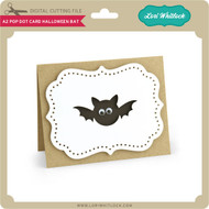 A2 Pop Dot Card Halloween Bat