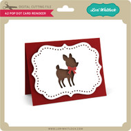 A2 Pop Dot Card Reindeer