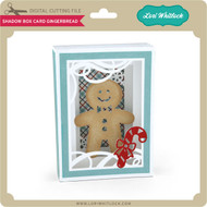 Shadow Box Card Gingerbread