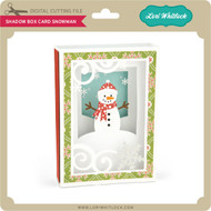 Shadow Box Card Snowman
