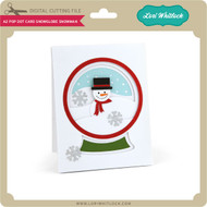A2 Pop Dot Card Snowglobe Snowman