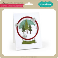 A2 Pop Dot Card Snowglobe Trees