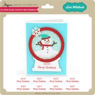 A2 Snow Globe Shaker Card Snowman
