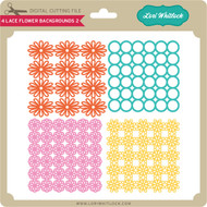 4 Lace Flower Backgrounds 2