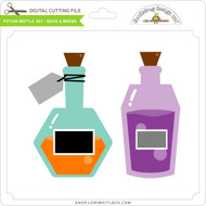 Potion Bottle - Set Boos & Brews
