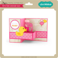 Pop Up Box Card Baby Duck