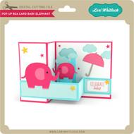 Pop Up Box Card Baby Elephant