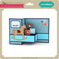 Pop Up Box Card Baby Rocking Horse