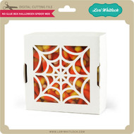 No Glue Box Halloween Spider Web