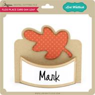 Flexi Place Card Oak Leaf