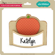 Flexi Place Card Pumpkin