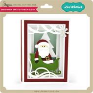 Shadowbox Santa Sitting in Sleigh