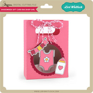 Shadowbox Gift Card Bag Baby Girl