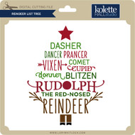 Reindeer List Tree