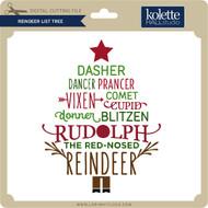 Reindeer List Tree