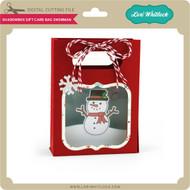 Shadowbox Gift Card Bag Snowman