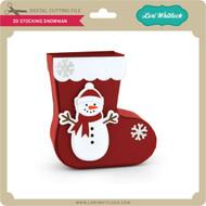 3D Stocking Snowman