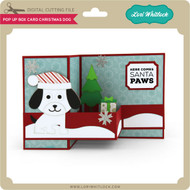 Pop Up Box Card Chistmas Dog