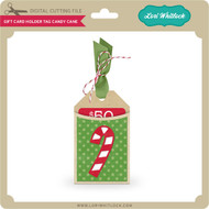 Gift Card Holder Tag Candy Cane