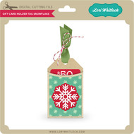 Gift Card Holder Tag Snowflake