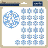Ornament Snowflake Monograms A Z
