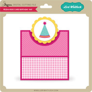 Peek a Boo Card Birthday Hat