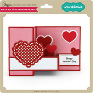 Pop Up Box Card Valentine Hearts