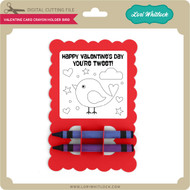Valentine Card Crayon Holder Bird