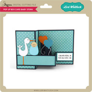 Pop Up Box Card Baby Stork