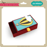 Matchbox Drawer Card Hot Air Balloon