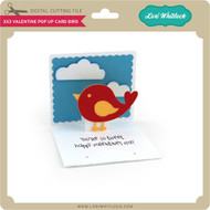 3x3 Valentine Pop Up Card Bird