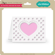 A2 Stacking Card Base Big Heart