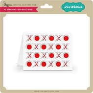 A2 Stacking Card Base XOXO