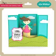Center Box Card Sparkle Fairy