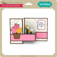 Pop Up Box Card Flower Pot
