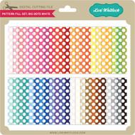 Pattern Fill Set Big Dots White