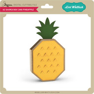 A2 Shaped Box Card Pineapple