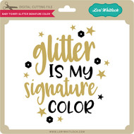 Baby T-Shirt Glitter Signature Color
