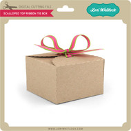 Scalloped Top Ribbon Tie Box