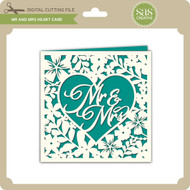 Mr and Mrs Heart Card