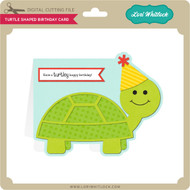 Turtle Shaped Birthday Card