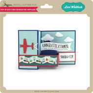 Pop Up Box Card Graduation Airplane