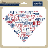 Superhero Word Collage