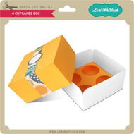 4 Cupcakes Box