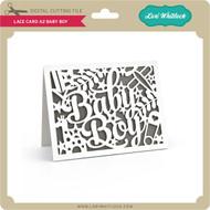 Lace Card A2 Baby Boy